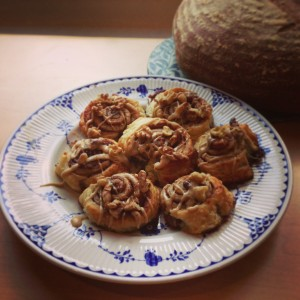 Fudge-laced Cinnamon Buns