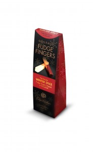 new Dipped Fudge Fingers duos: twists of Xmas Pudding dipped in Brandy flavoured white chocolate and Xmas Ginger dipped in dark chocolate.